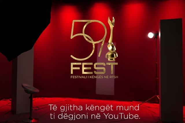Fest' 59, produksionet muzikore mund t'i dëgjoni në YouTube.
